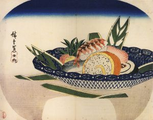 広重「寿司」