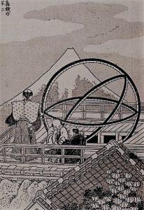北斎「鳥越の不二」浅草天文台